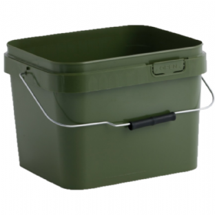 10 LITRE FOOD GRADE SQUARE OLIVE GREEN PLASTIC BUCKET & LID